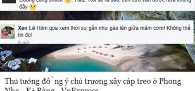 VNTB – Từ 'không làm kinh tế bằng mọi giá' đến 'đồng ý cáp treo Phong Nha' của TTg Phúc