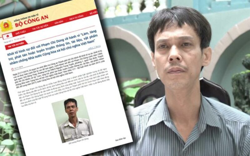 "Watchdogs Unleashed : ""Pham Chi Dung's arrest should trigger economic sanctions against Vietnam"""